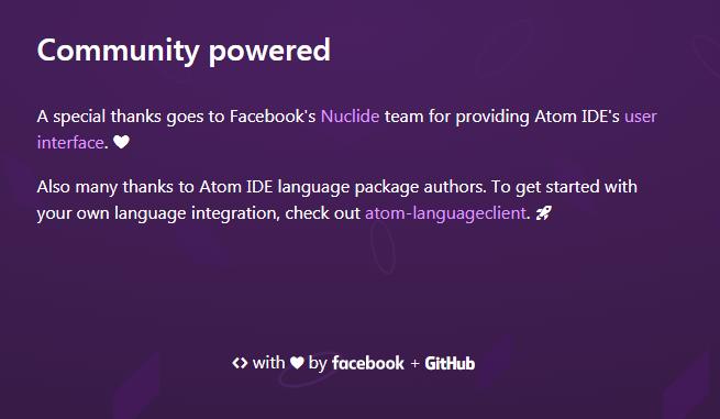 Atom IDE, la collaboration de GitHub et Facebook