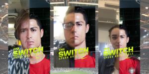 Sponsored lenses Nike filtre Cristiano Ronaldo Euro 2016