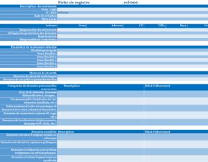 Aperçu et échantillon du modèle de registre Excel