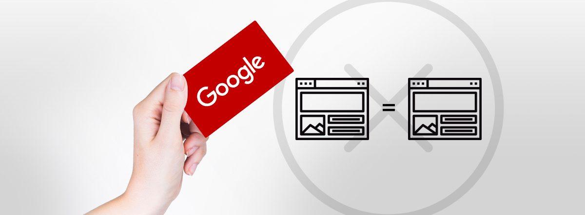 pénalités google contenu dupliqué