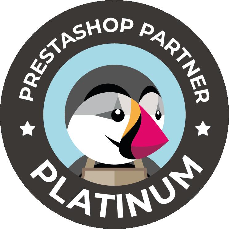 Badge PrestaShop Partner Platinum