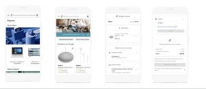 Shopping Actions, expérience mobile