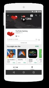 affichage des applications similaires dans Google Play