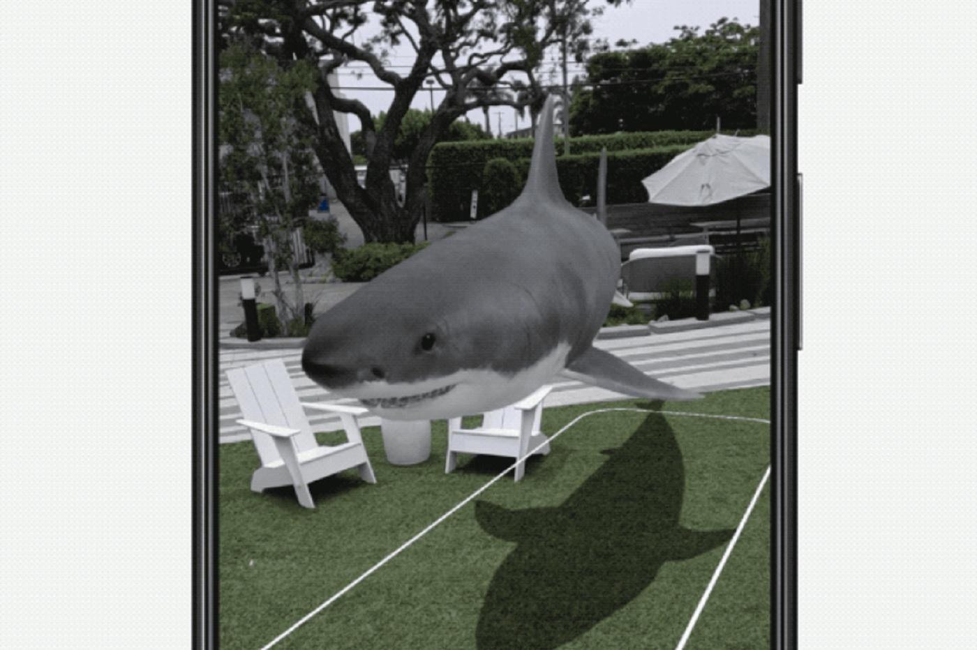 Requin en réalité augmentée