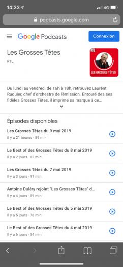 Les Podcasts dans les SERPs mobiles Google