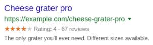 notations par étoiles google