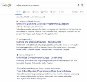 serp google nouveau design